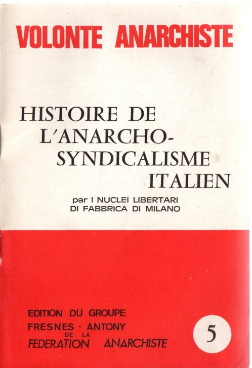 A-Syndicalisme italien - Couverture