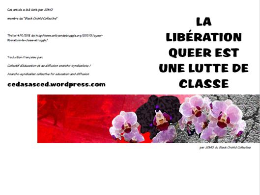 Liberation queer est une lutte de classe - Jomo